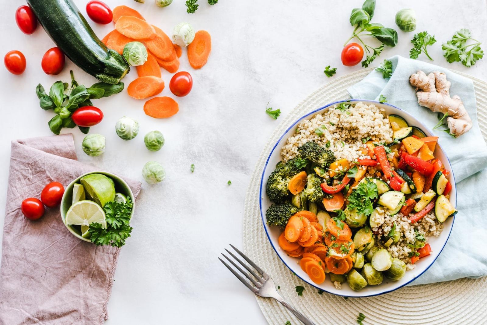 alimentación saludable y quiropráctica